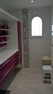 Carrelage d'une salle de bains réalisé par JF Clémenceau à Vallet dans le 44